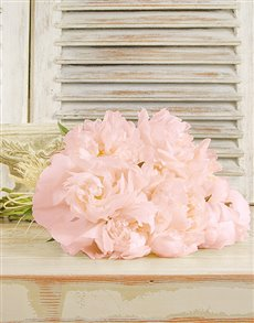 flowers: Light Pink Peonies in a Bouquet!