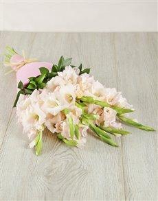 flowers: Light Pink Gladiolus Bouquet!