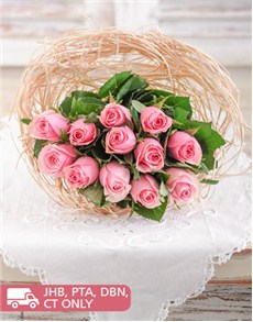 Flowers: Bouquet Holder of Pink Roses!