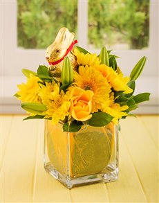 gifts: Easter Lindt Bunny in a Glass Vase!