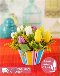 flowers: Tulip Flower Cupcake!