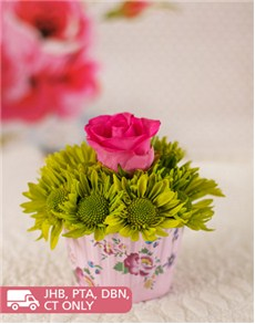flowers: Rose & Sprays Cupcake!