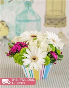 flowers: Gerbera and Rose Flower Cupcake!