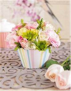 flowers: Storm Cloud Vase of Anthuriums!
