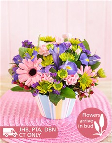 flowers: Mixed Flower Cupcake!