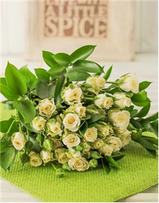 flowers: Kenyan Cluster White Rose Bouquet!