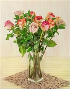 flowers: Kenyan Premium Mixed Rose Vase!