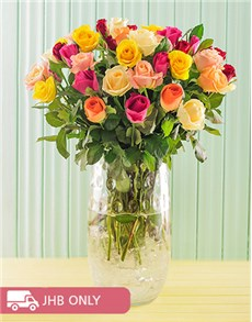 flowers: Mixed Roses in a Luxury Vase!