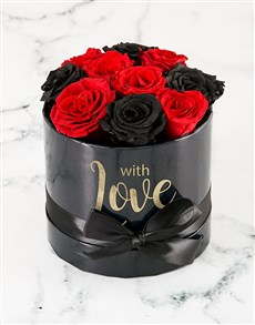 flowers: Red and Black Rose Radiance!