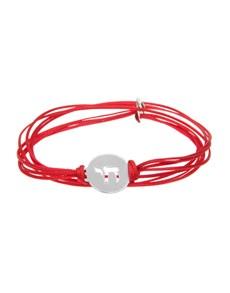 jewellery: 9KT Chai Symbol Red Silk Cord Bracelet!