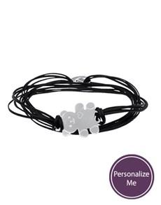 jewellery: Sterling Silver Teddy and Black Silk Bracelet!