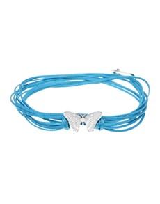 jewellery: Silver Butterfly and Blue Silk Bracelet!