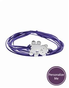 jewellery: Sterling Silver Teddy and Purple Silk Bracelet!