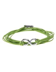 jewellery: Silver Infinty Green Silk Cord Bracelet!
