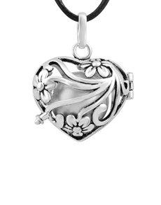 jewellery: Shiroko Harmony Heart Filigree Cage Pendant!
