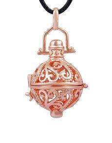 jewellery: Shiroko Harmony Rose Gold Round Cage Pendant!