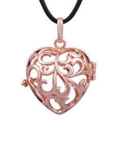 jewellery: Shiroko Harmony Rose Gold Heart Cage Pendant!