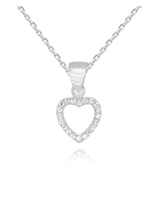 jewellery: Silver Pave Open Heart Pendant !