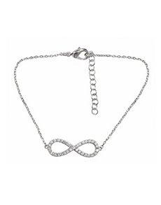 jewellery: Silver Infinity Cubic Bracelet!