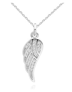 jewellery: Silver Pave Cubic Angel Wing Necklace!
