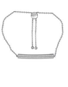 jewellery: 925 Silver Cubic Bar 19cm Bracelet!