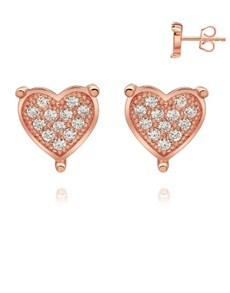 jewellery: Rose Silver Pave Set Cubic Stud Earrings!
