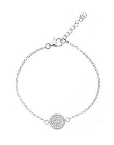 jewellery: Silver Cubic Round Disk Bracelet!