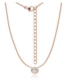 jewellery: Silver Rose RND Tube Cubic Snake Chain Necklace!