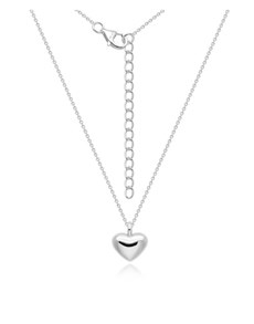 jewellery: Silver Medium Puff Heart Necklace!