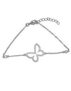 jewellery: Silver Cubic Open Butterfly Bracelet!