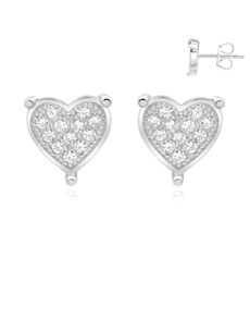 gifts: Silver Claw Pave Cubic Zirconia Earring!