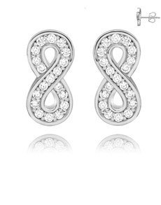 gifts: Silver Pave Cubic Infinity Studs!