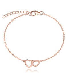 jewellery: Silver Rose Interlinking Hearts Bracelet!