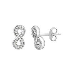 jewellery: Silver Cubic Infinity Stud Earrings!