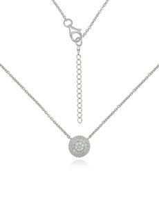 jewellery: Silver Round Cubic Necklace NJHKX041!