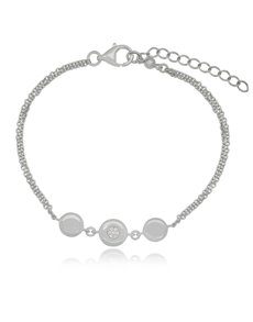 jewellery: Silver Round Circle Cubic Bracelet!