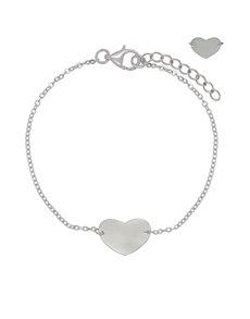 jewellery: Sterling Silver Heart Bracelet NJHKX061!