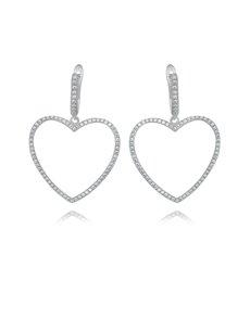 jewellery: Sterling Silver Heart Cubic Earrings!