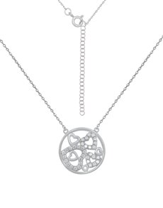 jewellery: Sterling Silver Circle of Hearts Cubic Necklace!
