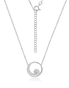 jewellery: Sterling Silver Cubic Necklace NJHKX089!