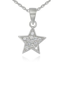 jewellery: Sterling Silver Star Cubic Necklace!