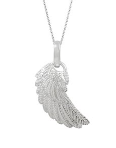jewellery: Shiroko Large Silver Angels Wing Pendant!