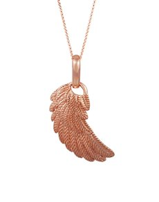 jewellery: Shiroko Rose Gold Plated Angels Wing Pendant!