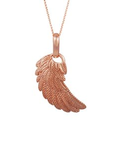 jewellery: Shiroko Large Rose Gold Angels Wing Pendant!