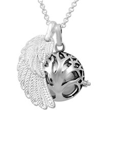 Shiroko Harmony Bell Silver Tree of Life Necklace