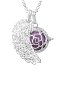 jewellery: Shiroko Harmony Bell Lilac Flower Necklace!