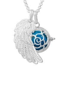 jewellery: Shiroko Harmony Bell Blue Flower Necklace!