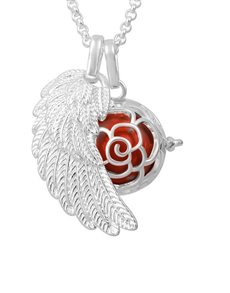 jewellery: Shiroko Harmony Bell Red Flower Necklace!