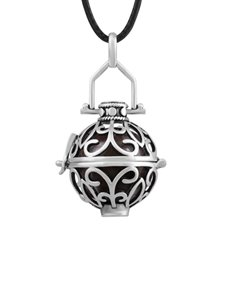 jewellery: Shiroko Harmony Bell Round Filigree Necklace!