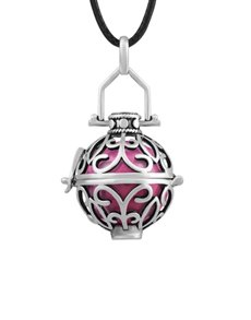 jewellery: Shiroko Harmony Bell Rose Pink Cage Necklace!